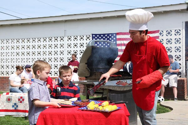 Fourth of July barbeque party