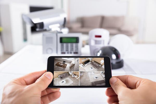 A smartphone and smart home devices