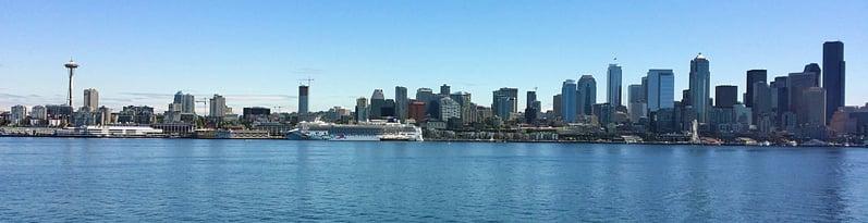 Seattle skyline seen from Elliott Bay
