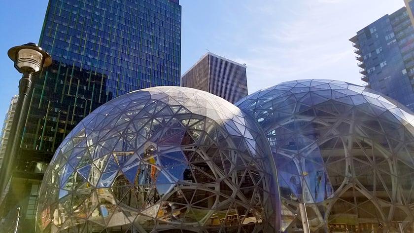 Amazon spheres in downtown Seattle