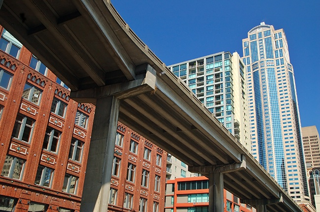 Seattle overpass earthquake potential