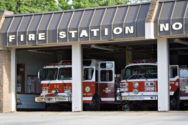 Fire station and trucks ready for a Protection Class evaluation