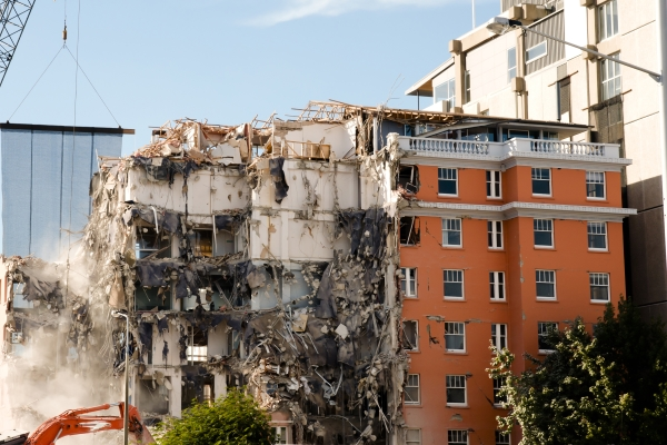 Property damage from a Christchurch, New Zealand earthquake