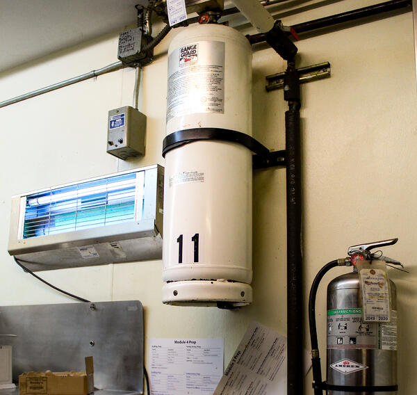 A restaurant fire suppression system