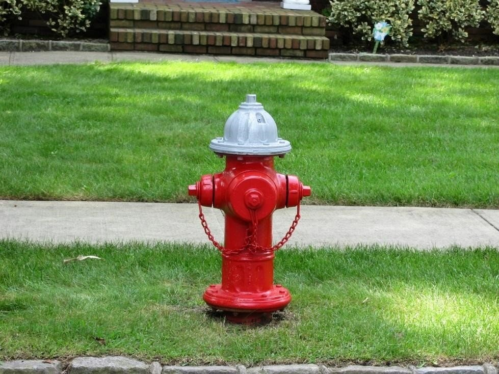 Fully creditable red fire hydrant