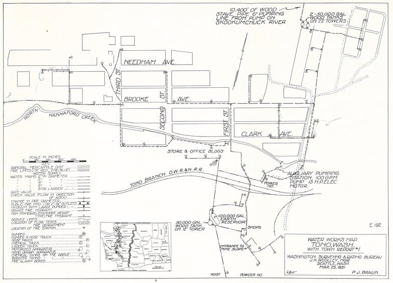 Map of Tono, WA